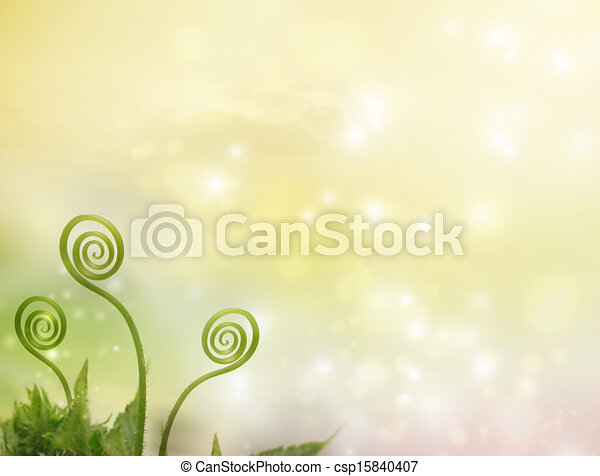 Plant tendrils on fantasy background - csp15840407