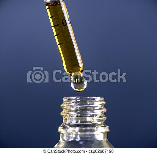 planta, óleo, cbd, cannabis, marijuana, extracted - csp62687198