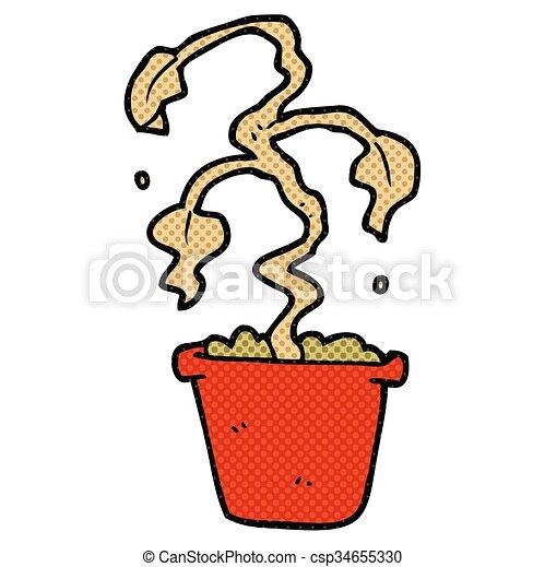 Planta de casa muerta. Mano libre dibujada caricaturas de plantas muertas.  | CanStock