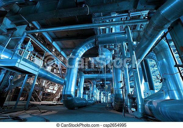 planta, dentro, tubos, energía - csp2654995