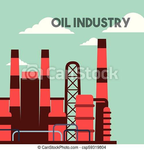 Plantas de fábricas de petróleo - csp59319804