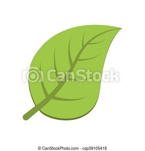 La naturaleza de las hojas planta el ícono verde. Vector gráfico - csp39105418