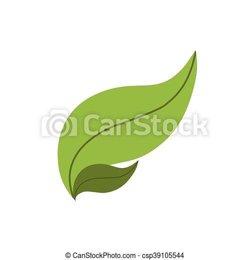La naturaleza de las hojas planta el ícono verde. Vector gráfico - csp39105544
