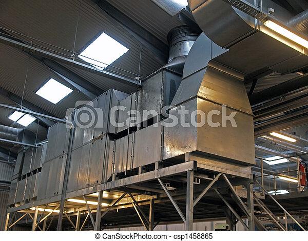 La planta industrial de la planta de ventilación HVAC - csp1458865