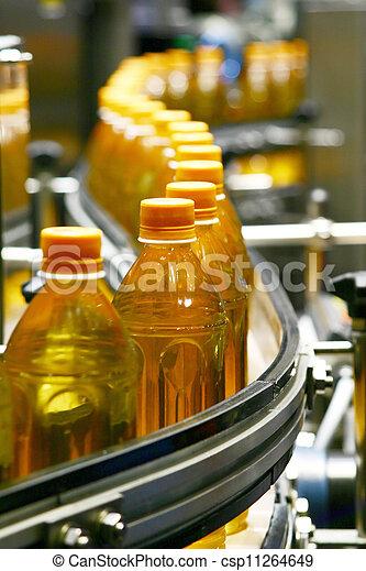 planta, líquido, indústria, enchimento, embalagem, máquinas - csp11264649