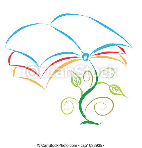 Planta de libros - csp10339397
