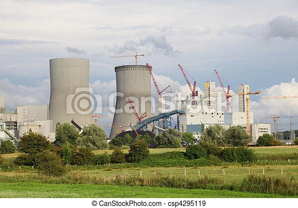 planta nuclear, construcción, potencia - csp4295119