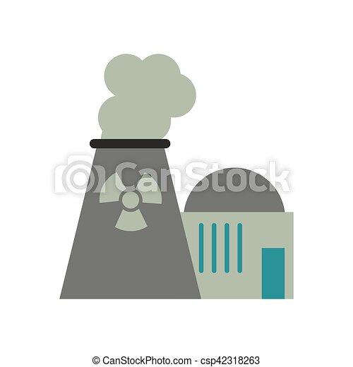 Planta Nuclear Energía Potencia Torre 10 Planta Potencia