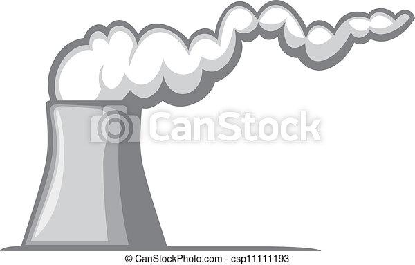 Grficos vectoriales EPS de planta nuclear potencia  central