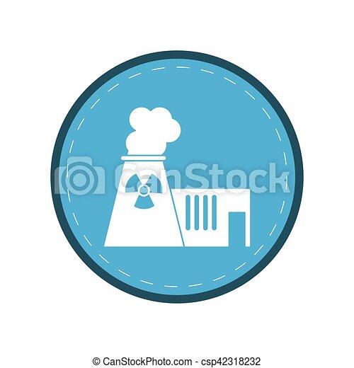 Planta Potencia Energía Nuclear Círculo Torre 10 Planta