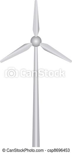 planta, vetorial, poder vento - csp8696453