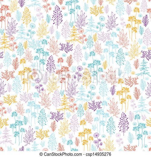 Flores coloridas y plantas de fondo sin manchas - csp14935276