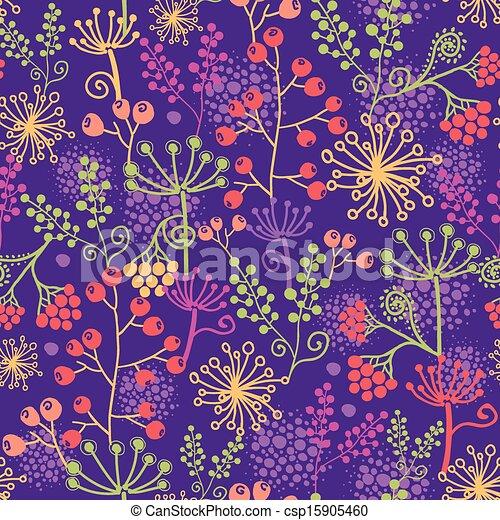 plantas, jardín, colorido, patrón, seamless, plano de fondo - csp15905460
