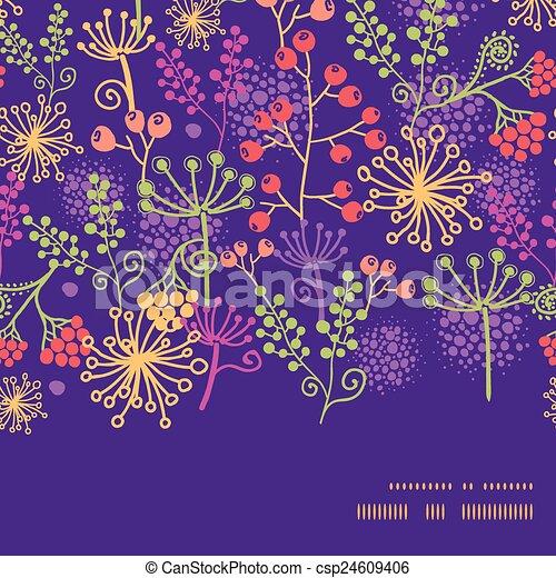 Plantas de jardinería coloridas horizontales enmarcadas de fondo - csp24609406