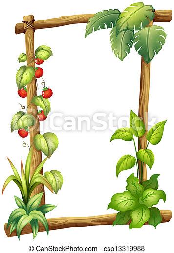 Plantas marco fondo blanco ilustraci n vector buscar - Marcos para plantas ...