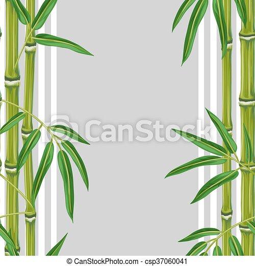 Plantas, padrão, folhas, seamless, bambu. Plantas, têxtil,... eps ...