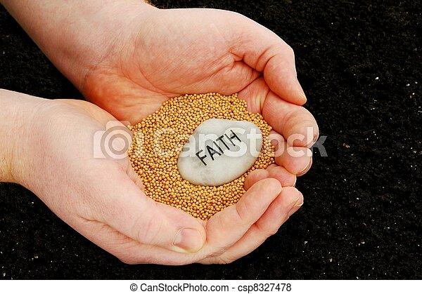 plantation graines, foi - csp8327478