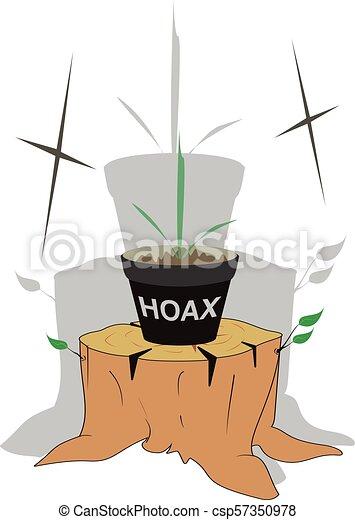 Plantation Hoax Satire Illustration About Plantation Hoax The