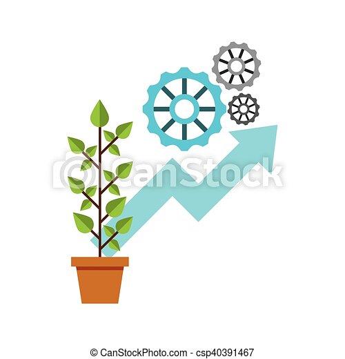 Plante Croissance Pousse Feuilles Icône