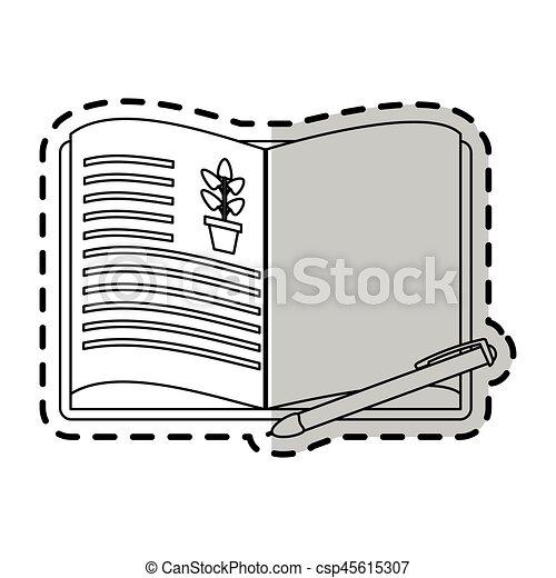 Plante Image Livre Ouvert Dessin Icone