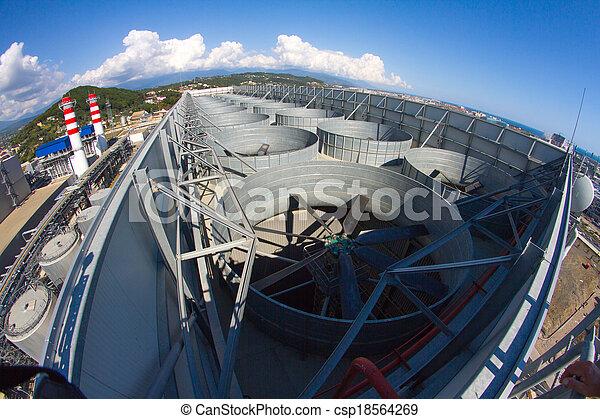 plante, industriel, système, toit, ventilation - csp18564269