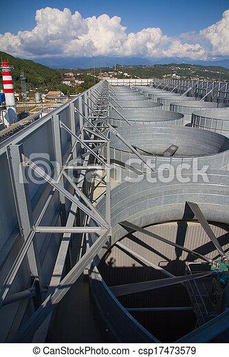 plante, industriel, système, toit, ventilation - csp17473579