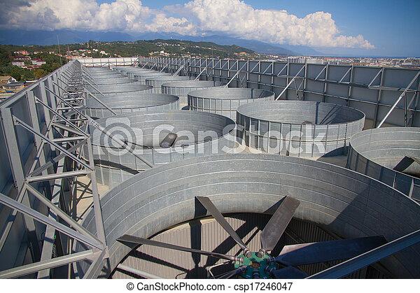 plante, industriel, système, toit, ventilation - csp17246047