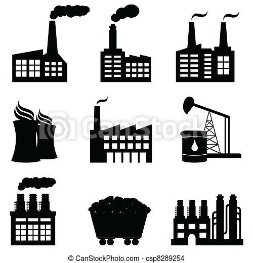 plante, magt, iconerne, atomenergien, fabrik - csp8289254