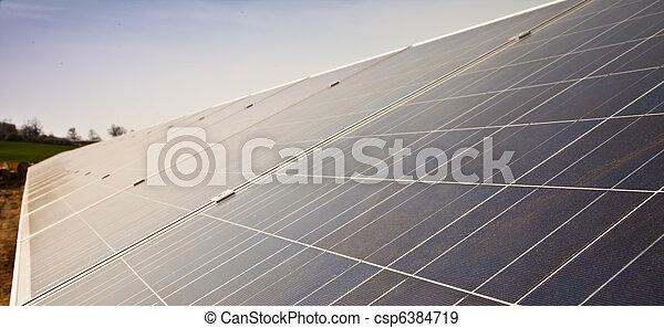 plante, panneau solaire - csp6384719