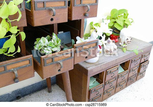 Biurko ze starego drewna bureau en vieux bois wnętrza