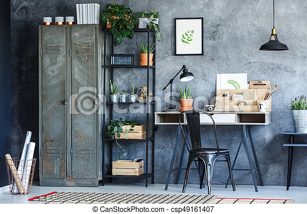 planten, industriebedrijven, kamer, kantoor - csp49161407