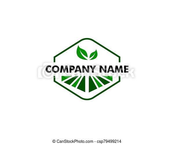 plantilla, granja, logotipo, diseño, naturaleza, verde - csp79499214