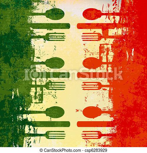 El menú italiano - csp6283929