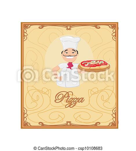La plantilla del menú de pizza - csp10108683