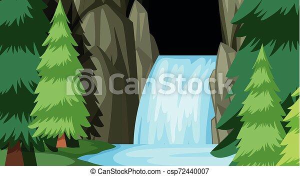 La plantilla del paisaje natural - csp72440007