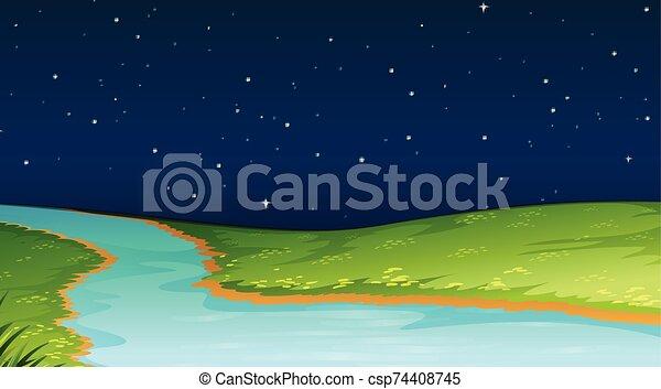 plantilla, paisaje de la naturaleza, escena - csp74408745