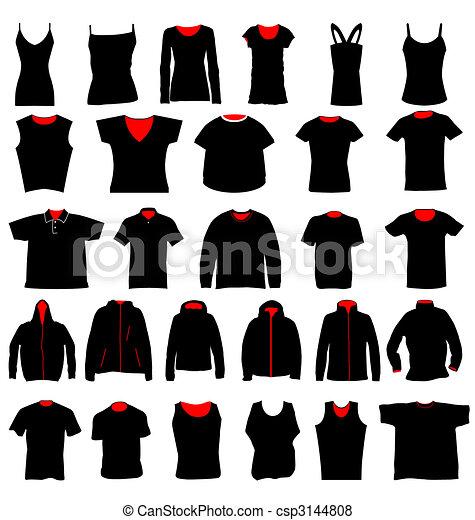 plantillas, camisa - csp3144808