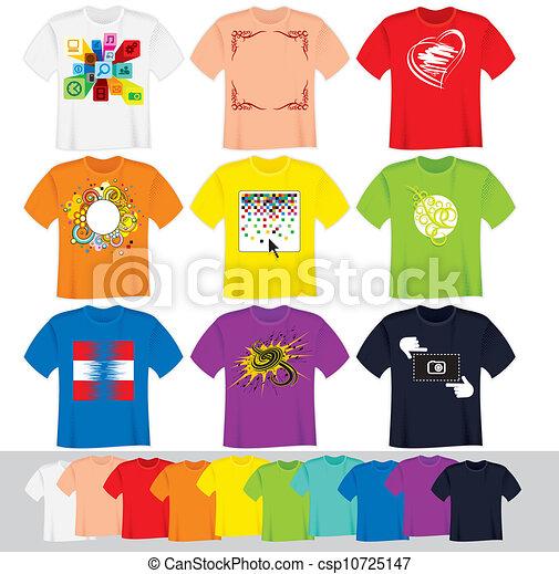 Las plantillas de la camisa - csp10725147