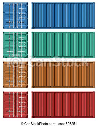 Un conjunto de plantillas de contenedores de carga - csp4606251