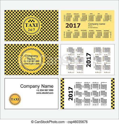 Plantillas, conjunto, empresa / negocio, taxi., calendarios ...