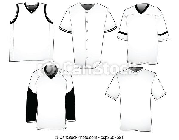 La plantilla de camisetas deportivas - csp2587591