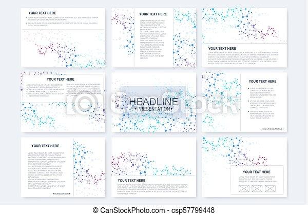 Grandes Plantillas Vectoriales Para Diapositivas De