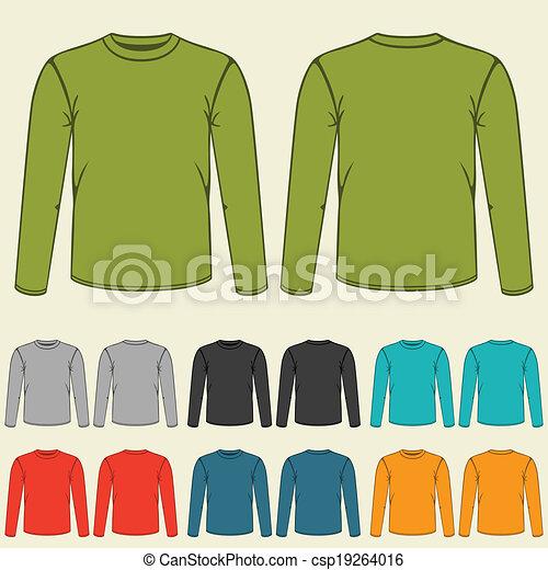 Un conjunto de plantillas sudaderas de color para hombres. - csp19264016