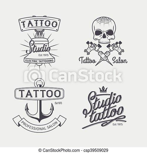 Plantillas Tatuaje Estudio Logotipo Tatuando Tatuaje Arte