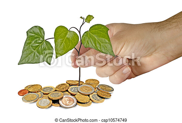 Planting a seedling - csp10574749