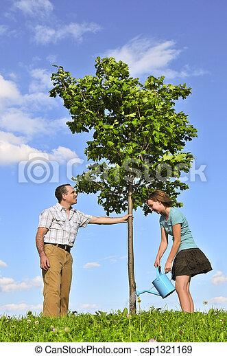 Planting a tree - csp1321169