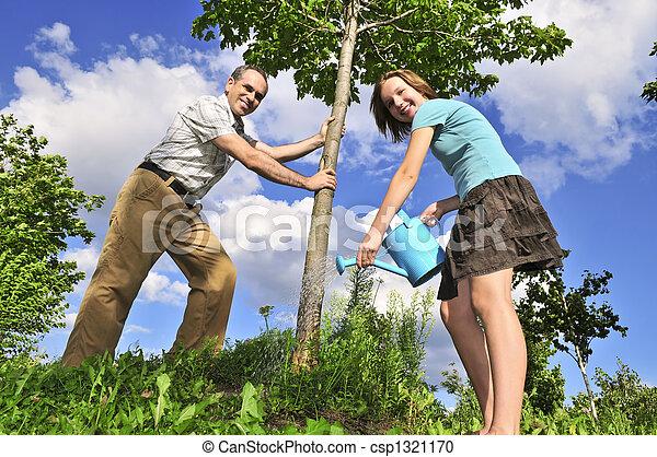 Planting a tree - csp1321170