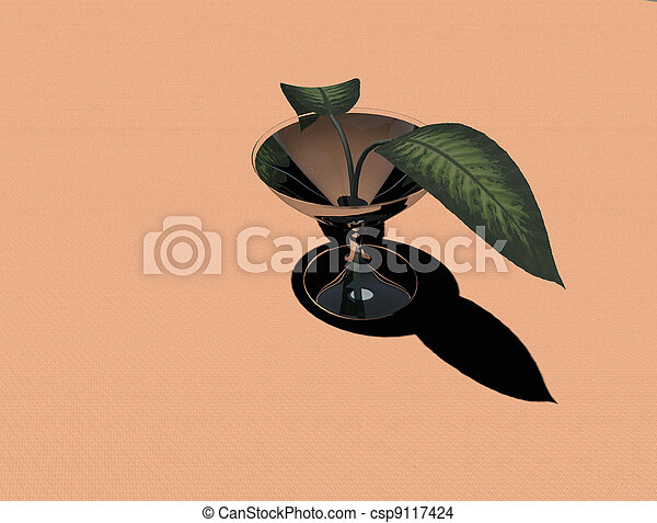 Plants with two leaves - csp9117424