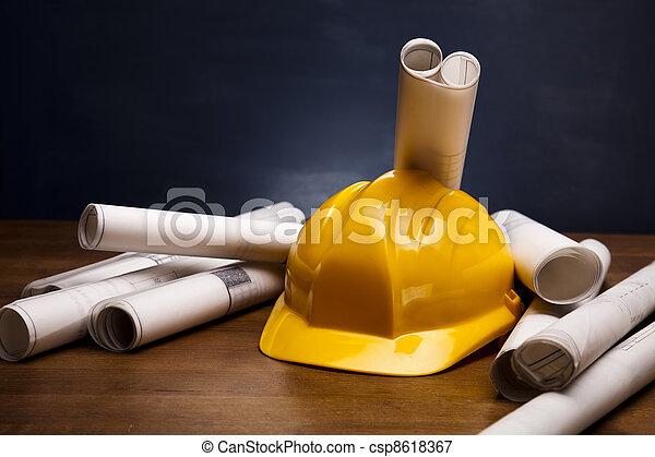 planung, architektur - csp8618367