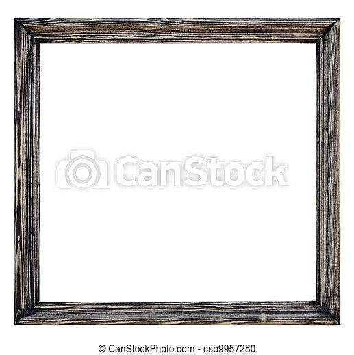 plaqué, bois, blanc, image, vendange, fond, cadre - csp9957280